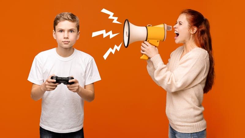 Gaming, parent yelling