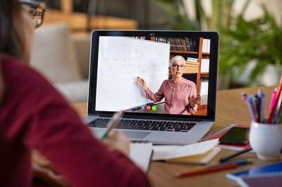 women on video teaching
