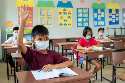 student learning with mask