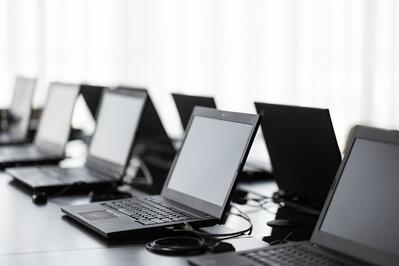 computer devices in room